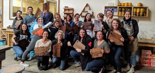 Healthforce Center at UCSF staff at 2019 Staff Appreciation Day at Wood Thumb.